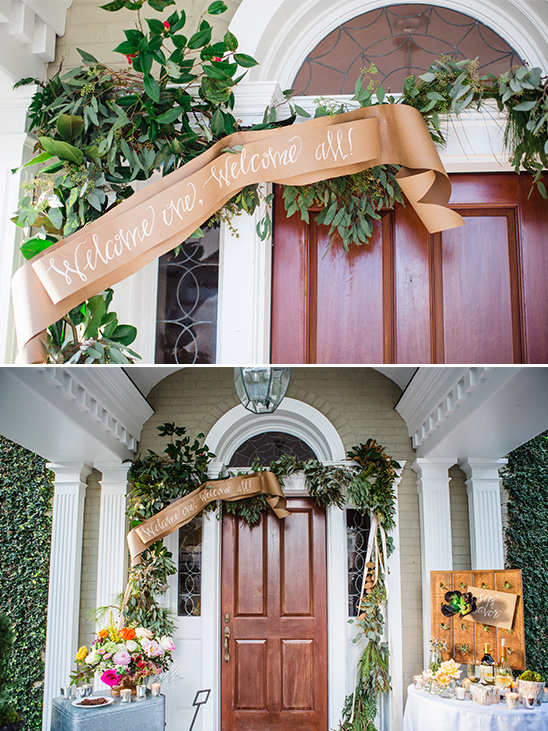 cute paper banner and garland @weddingchicks