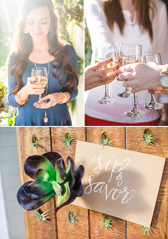sip and savor bridal party idea @weddingchicks