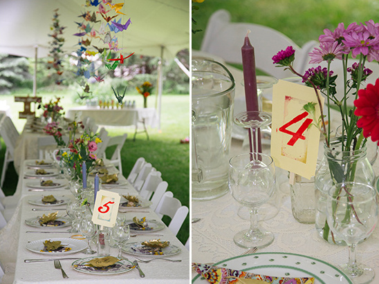 stamped table numbers @weddingchicks