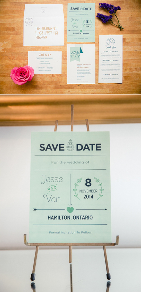 modern vintage wedding stationery @weddingchicks