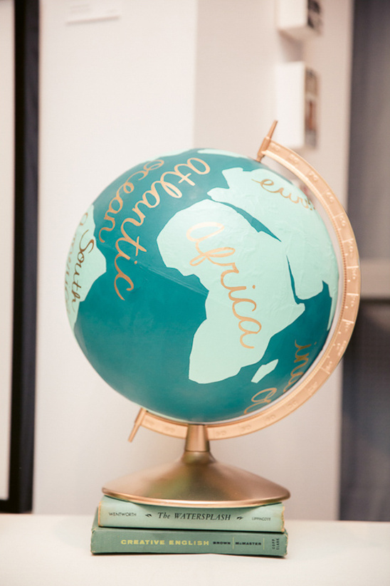 wedding globe @weddingchicks