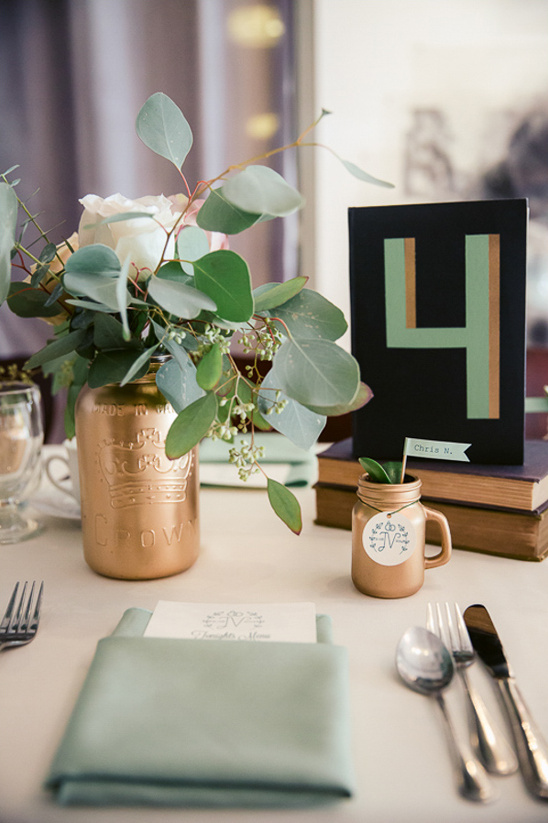 modern vintage table decor @weddingchicks