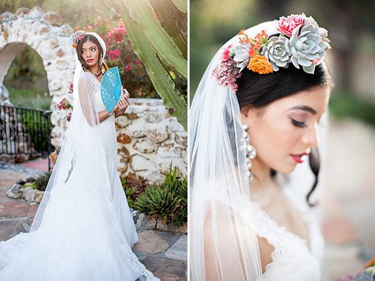 succulent floral crown @weddingchicks