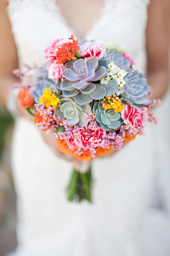 Mexico flora inspired boquet @weddingchicks