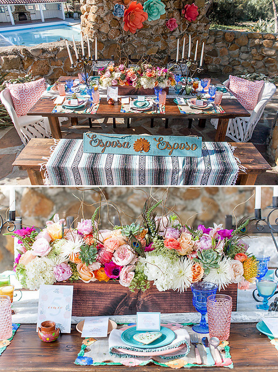 bright and colorful reception ideas @weddingchicks