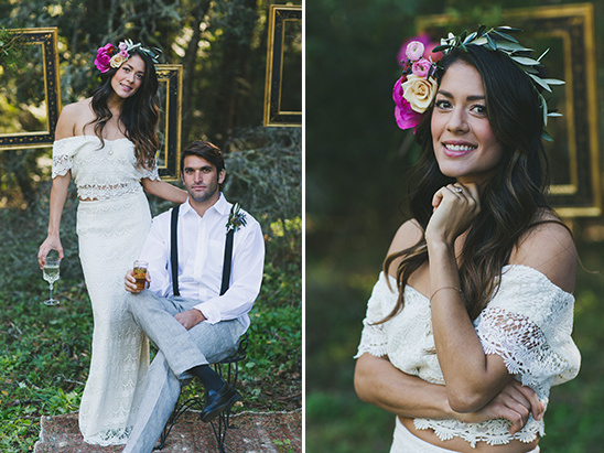 romantic boho wedding attire @weddingchicks