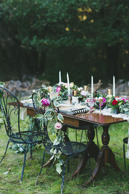 romantic woodland reception idea @weddingchicks