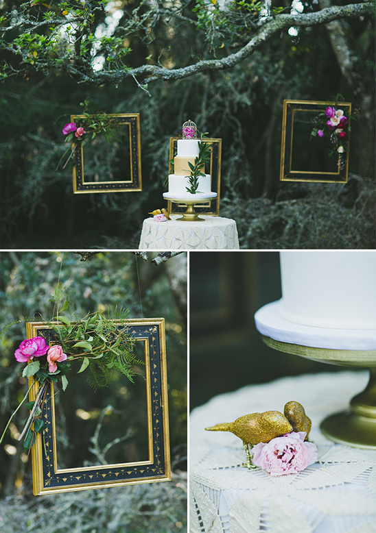 cute woodsy cake table idea @weddingchicks