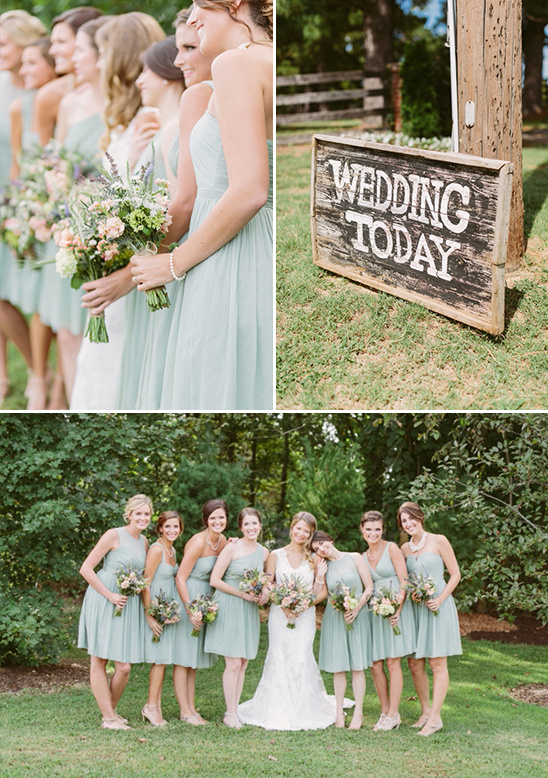 light green bridesmaids @weddingchicks