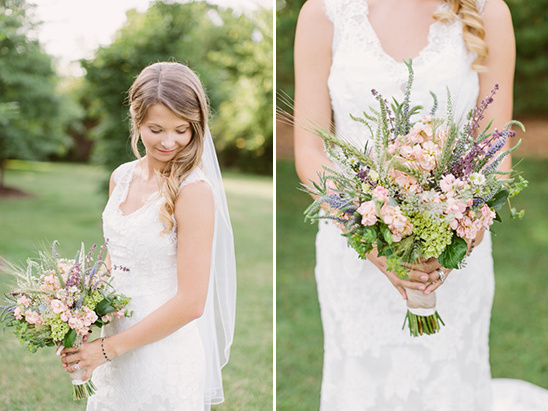 wildflower bridal bouquet @weddingchicks