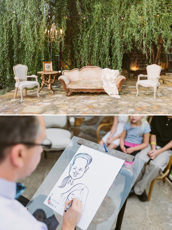 caricature artist @weddingchicks