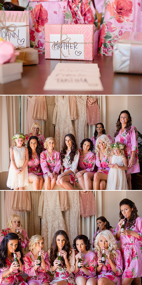 pink bridesmaid robes @weddingchicks