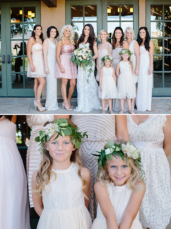soft blush bridesmaids dresses @weddingchicks