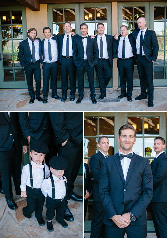 classy black and white groomsmen @weddingchicks