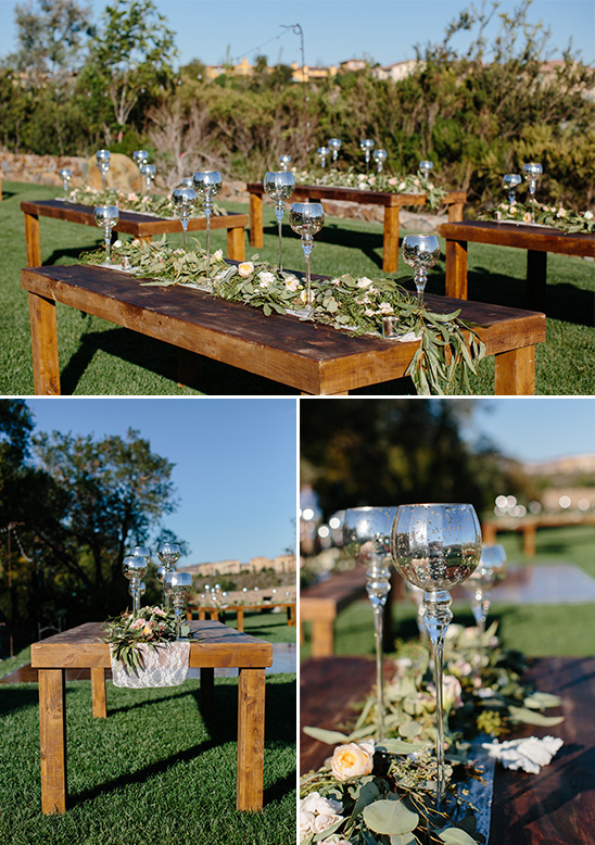 farm table style reception ideas @weddingchicks