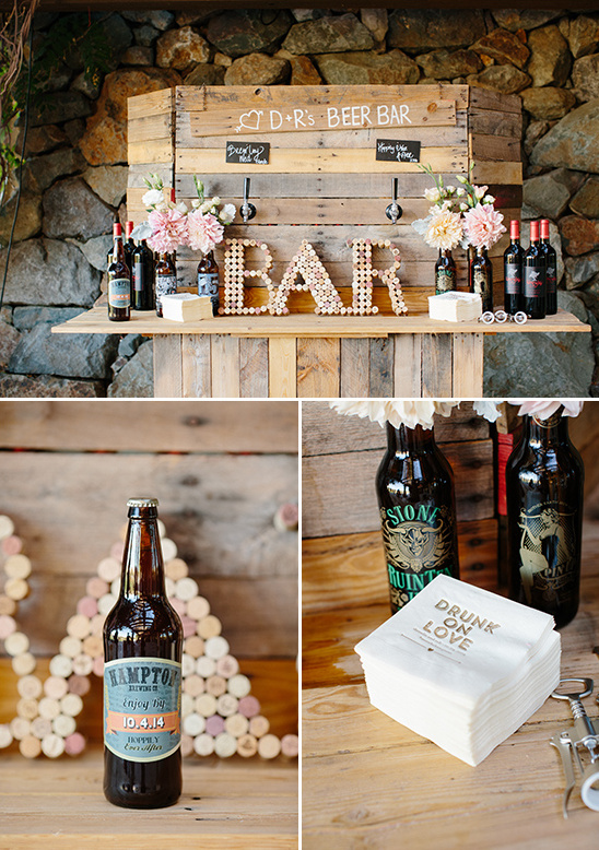 rustic charm beer bar @weddingchicks