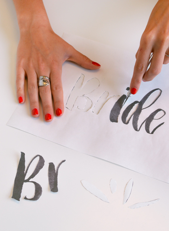 cut out your template @weddingchicks
