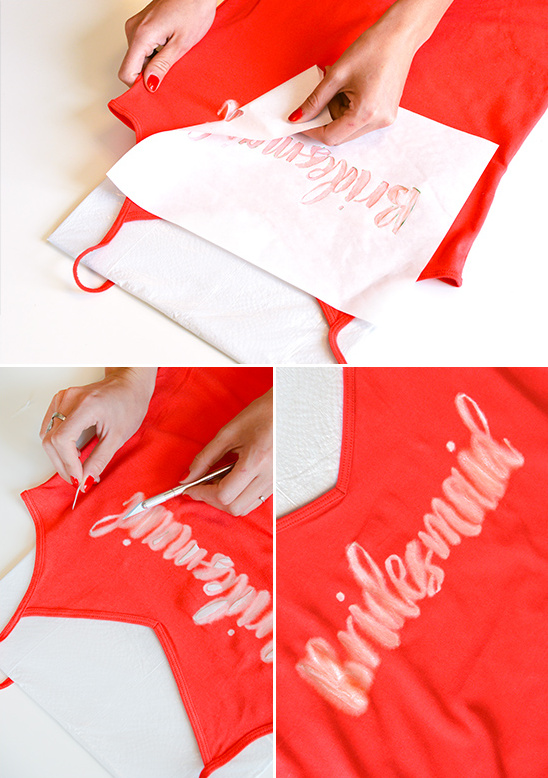 gently remove template and interior sections of letters @weddingchicks