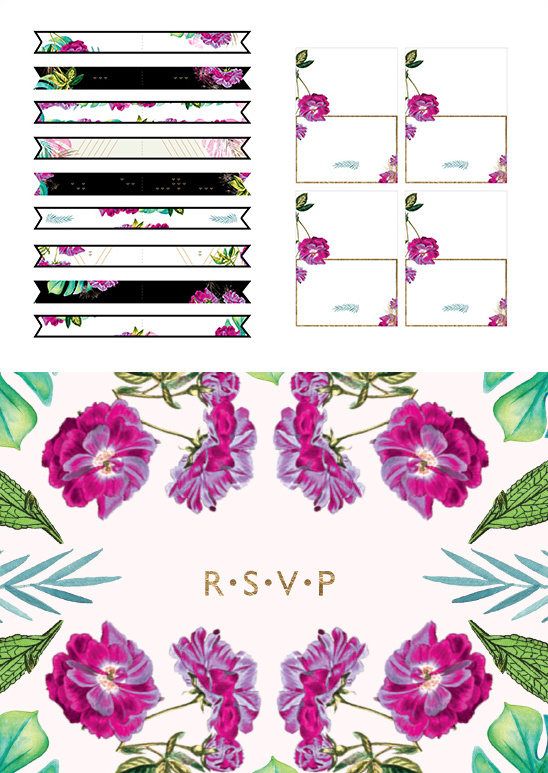 Free People FPEverAfter Downloadables @weddingFREE wedding printables from @freepeople