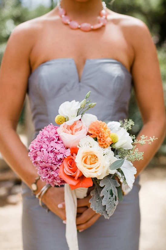 Southern california hot pink wedding bridesmaid bouquet by the dainty lion weddingchicks wedding couple weddingchicks mightylinksfo Gallery