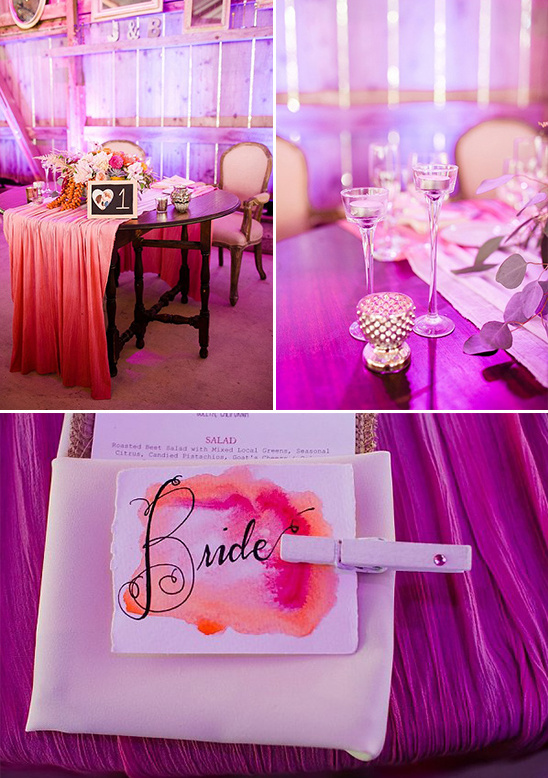 hot pink sweetheart table @weddingchicks