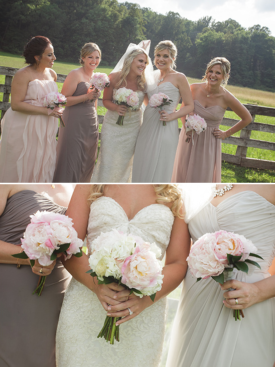 mix n match bridesmaid dresses @weddingchicks