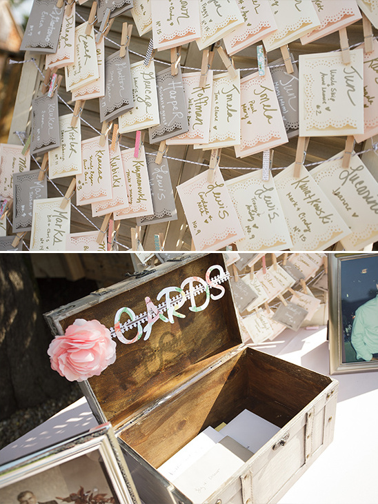 cards box and seating chart @weddingchicks
