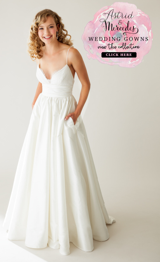 Modern wedding gowns from Astrid & Mercedes @weddingchicks