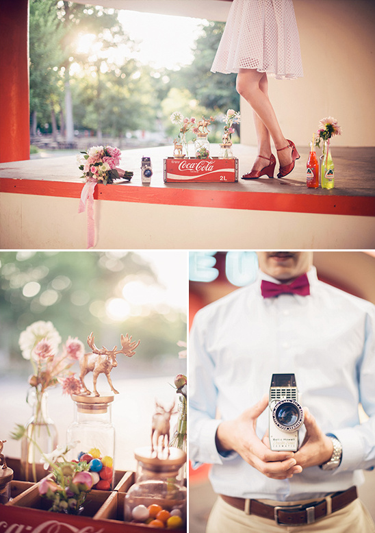 retro photo shoot details @weddingchicks