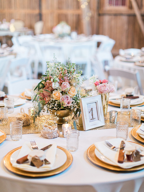 Gold Glam Rustic Table Decor Weddings