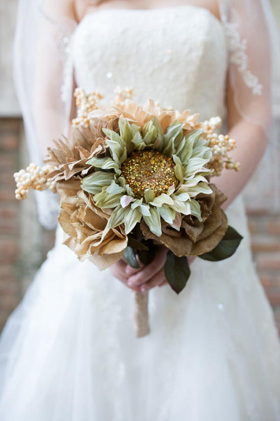 Rustic Mint And Gold Wedding