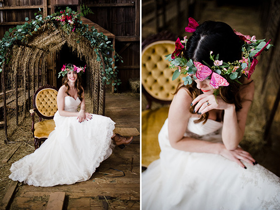butterfly crown @weddingchicks