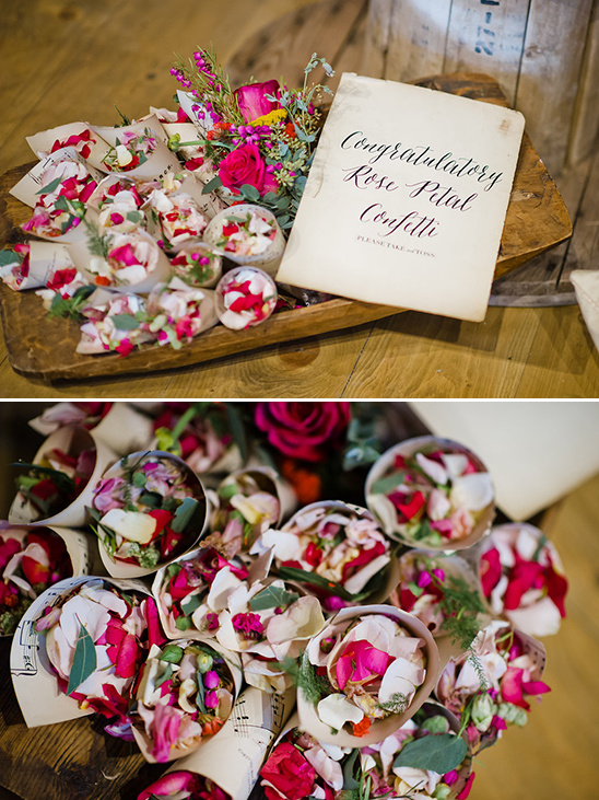 rose petal confetti @weddingchicks
