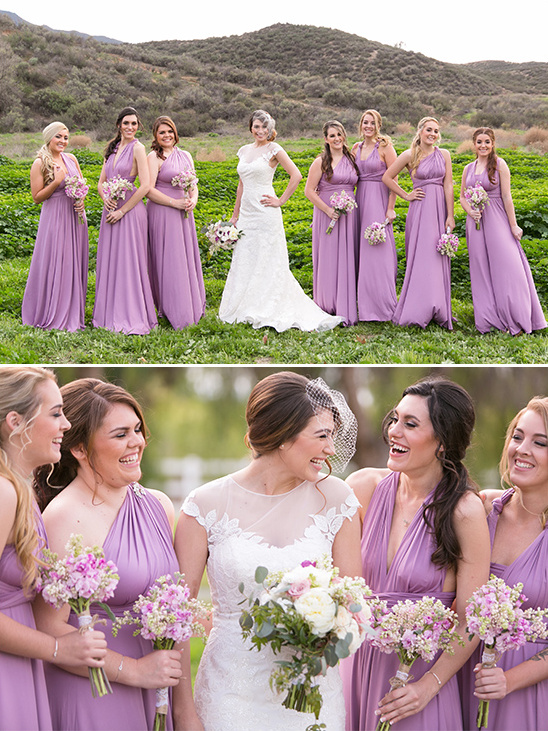 light lavender bridesmaid dresses @weddingchicks