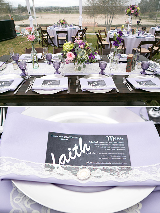 black and white wedding menu @weddingchicks