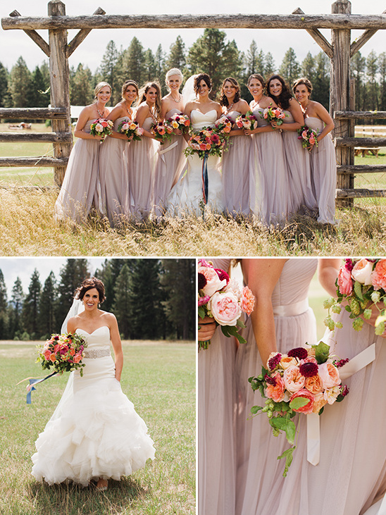 mauve wedding dresses @weddingchicks