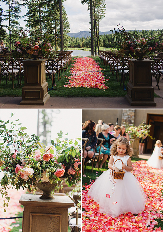 rose petal wedding aisle @weddingchicks