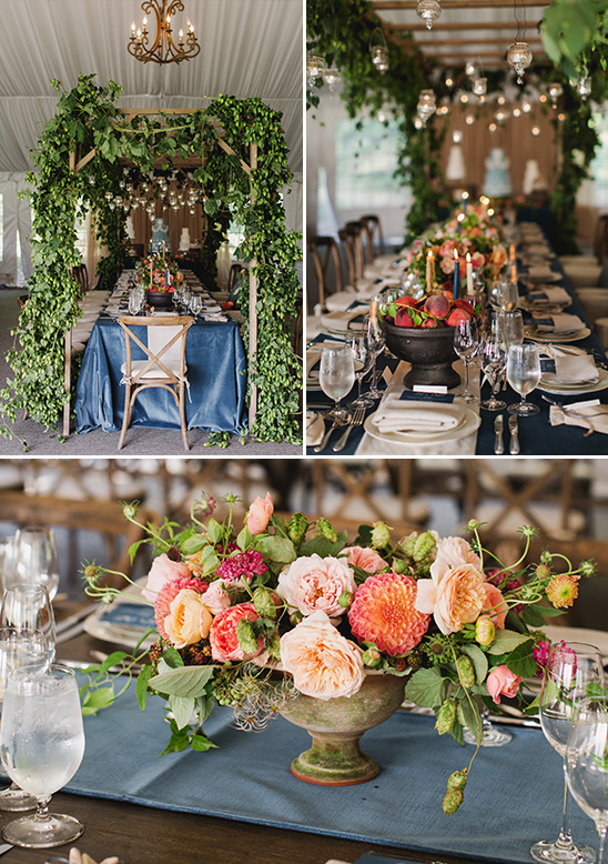 indoor arbor wedding table decor @weddingchicks