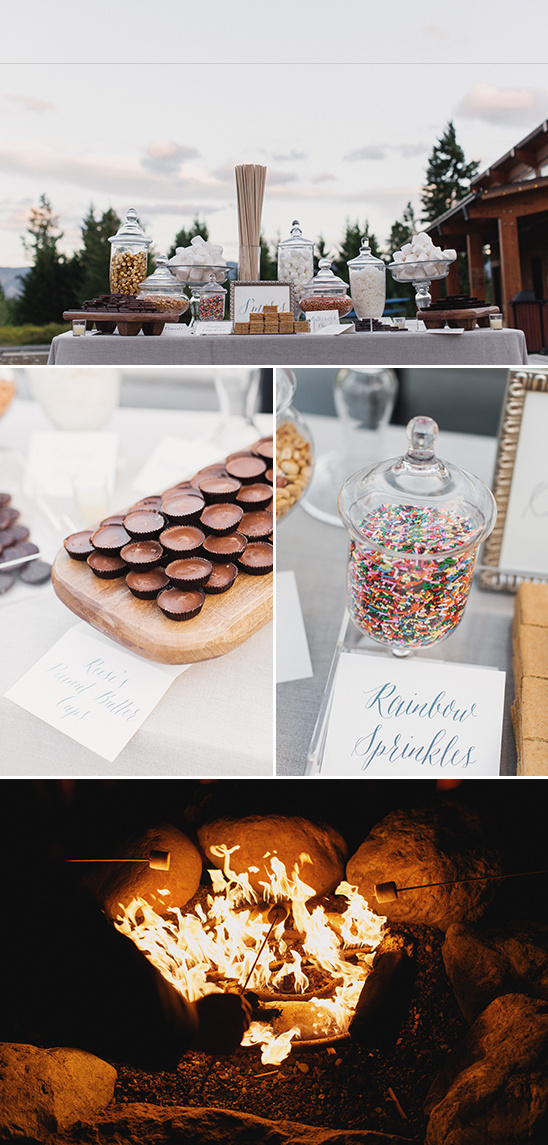 smores bar @weddingchicks