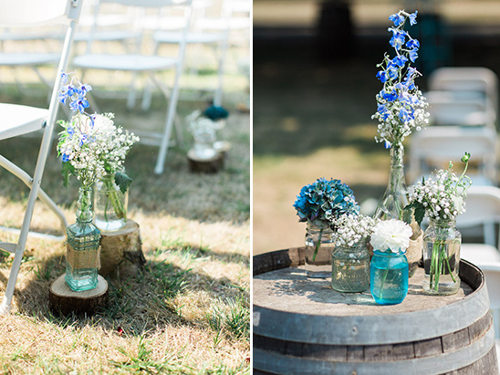 aisle flower and wood decor ideas @weddingchicks