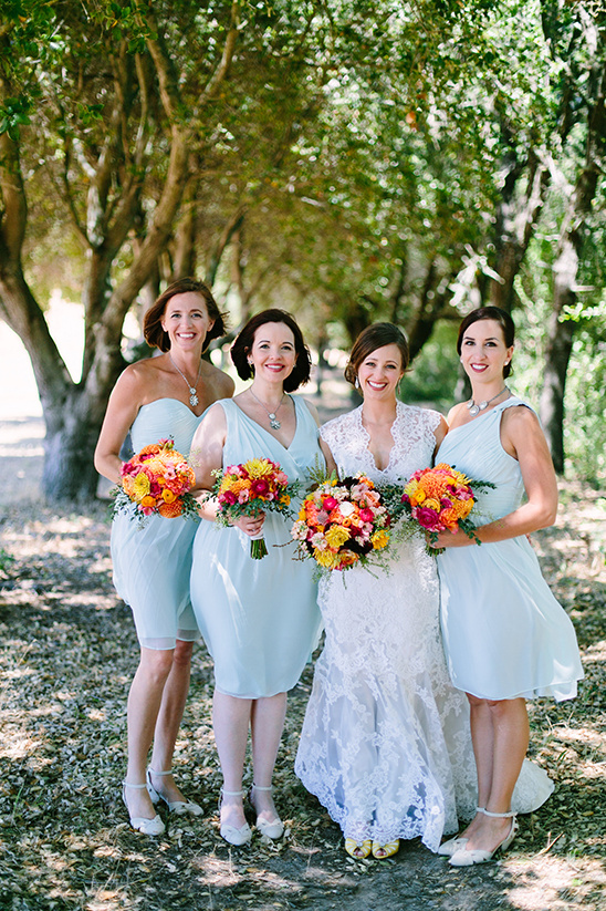 teal bridesmaid dresses @weddingchicks