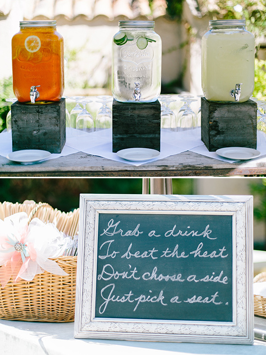 drink station @weddingchicks