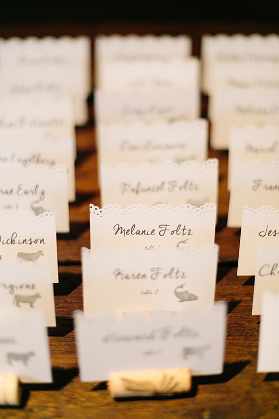 cute cut escort cards @weddingchicks