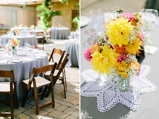 beautiful bright floral centerpieces @weddingchicks