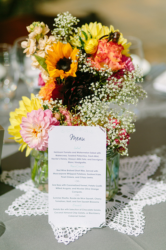 cute and simple wedding menu idea @weddingchicks