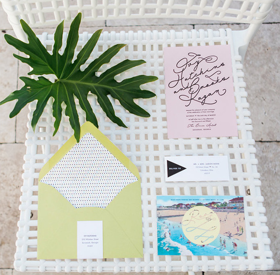 beach themed wedding invitation @weddingchicks