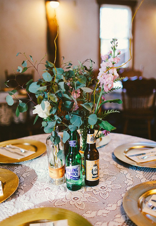 bottle florals@weddingchicks