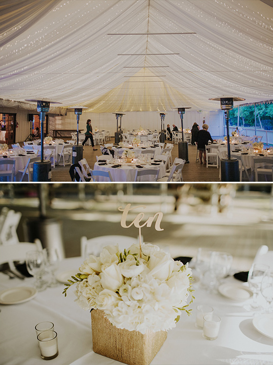 white and black reception decor @weddingchicks