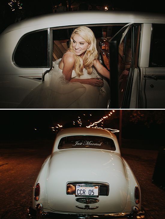 vintage wedding getaway car @weddingchicks