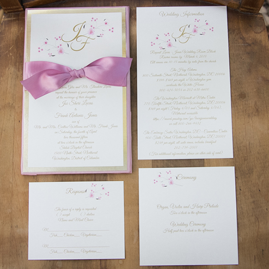 pink wedding invites @weddingchicks